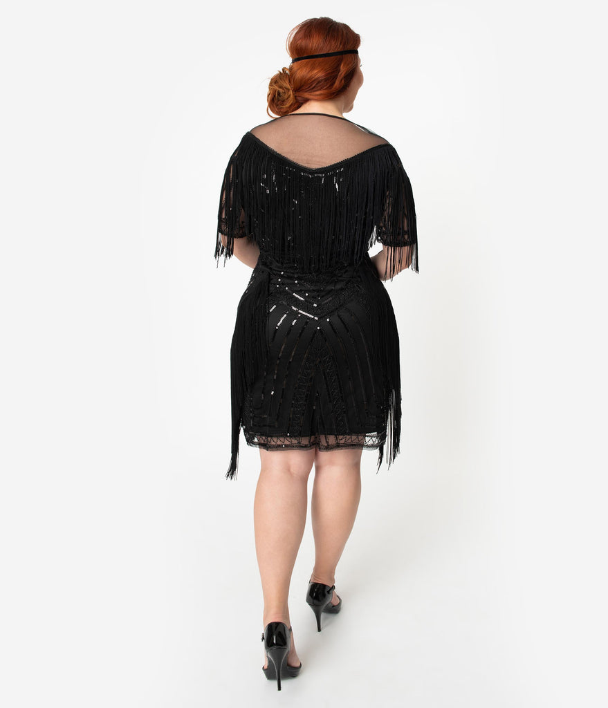 Flapper Dress With Sleeves Plus Size
