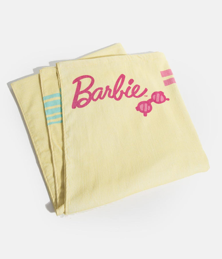 Barbie X Unique Vintage Yellow Malibu Barbie Beach Towel
