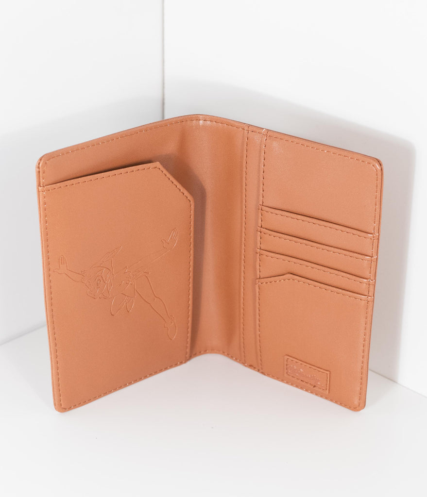 Cakeworthy Brown Leatherette Neverland Passport Holder