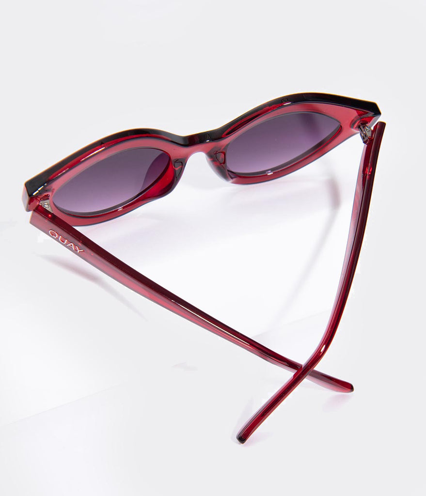 2aba0abad6 Quay Red Goodnight Kiss Cat Eye Sunglasses – Unique Vintage