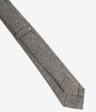 Grey & Black Houndstooth Wool Mens Tie