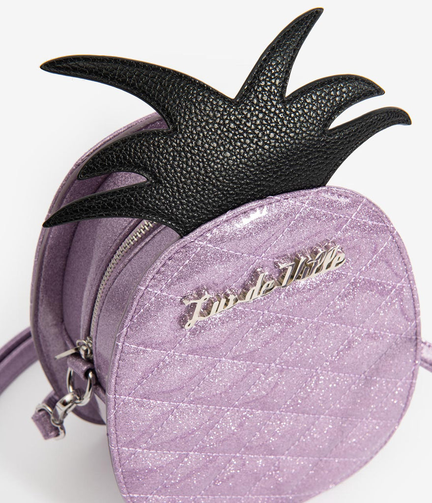 Lux De Ville Luscious Lilac Sparkle Pineapple Magic Purse