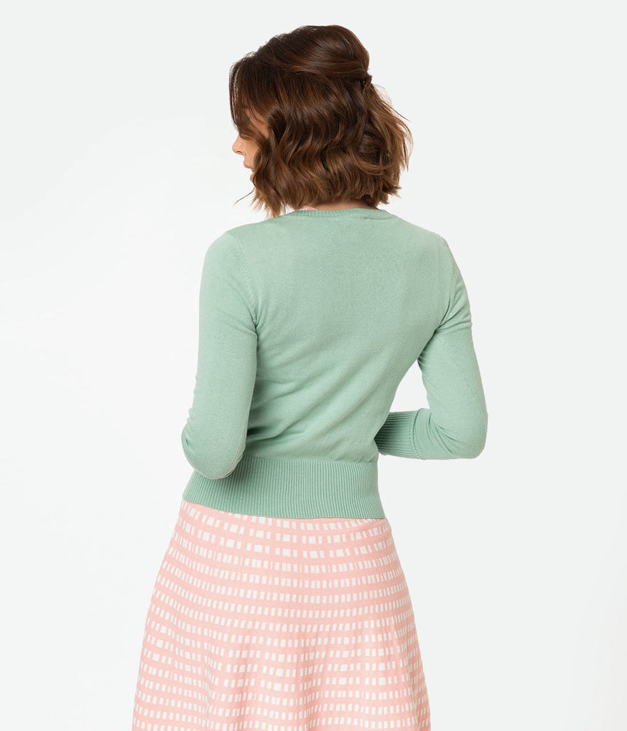 Mint Knit Get Yeti For Winter Long Sleeve Cardigan