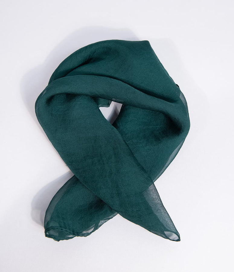 Emerald Green Chiffon Hair Scarf