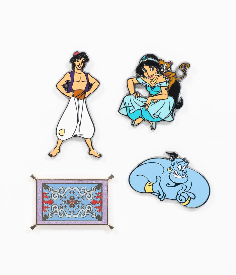 Loungefly Disney Aladdin Enamel Pin Set