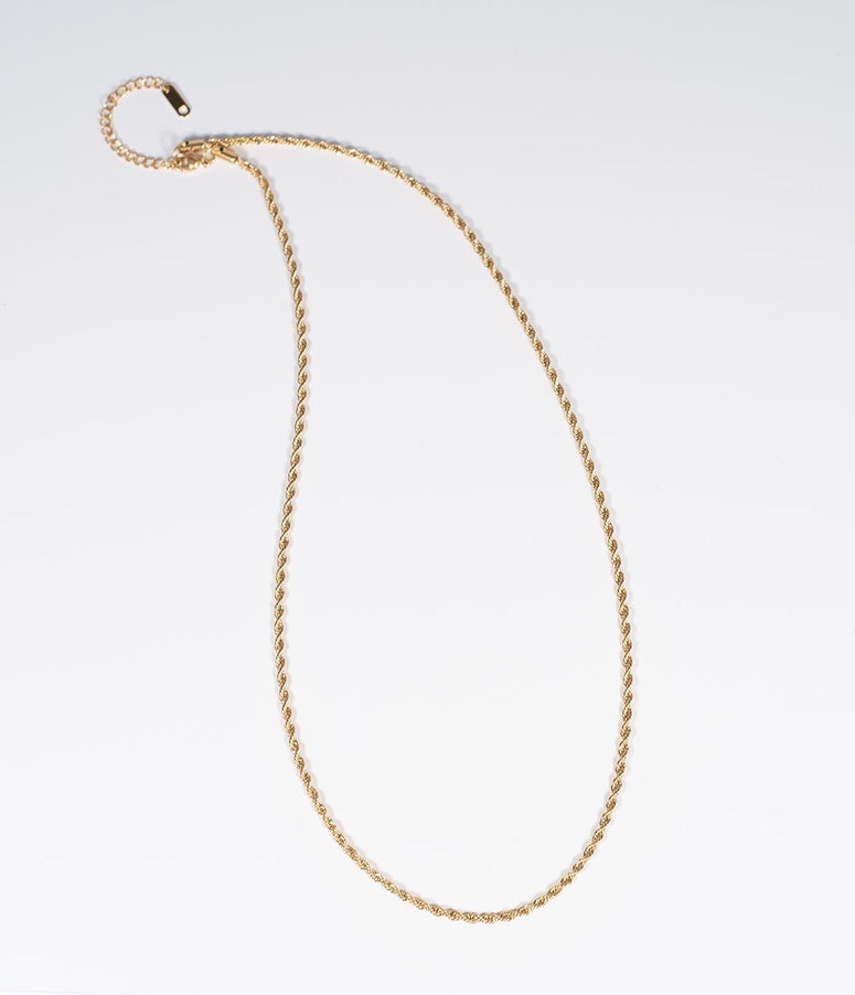 Golden Rope Twist Necklace