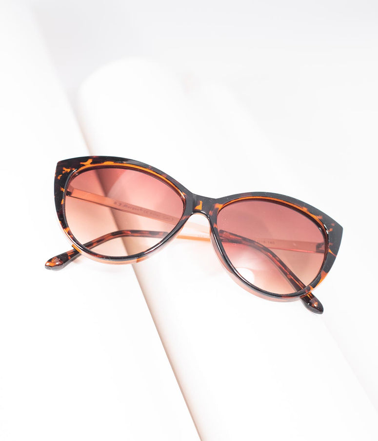 Tortoise Shell Oscar Worthy Cat Eye Sunglasses