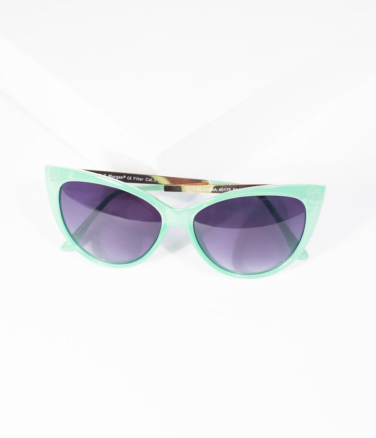 Mint Green Oscar Worthy Cat Eye Sunglasses