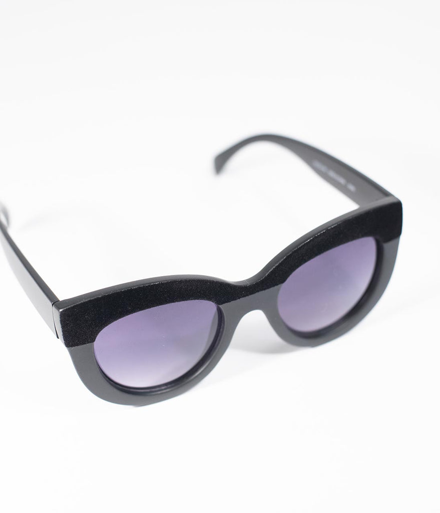 Black Velvet Cavalcade Cat Eye Sunglasses