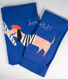 Blue Bon Appetit Cotton Kitchen Towel Set