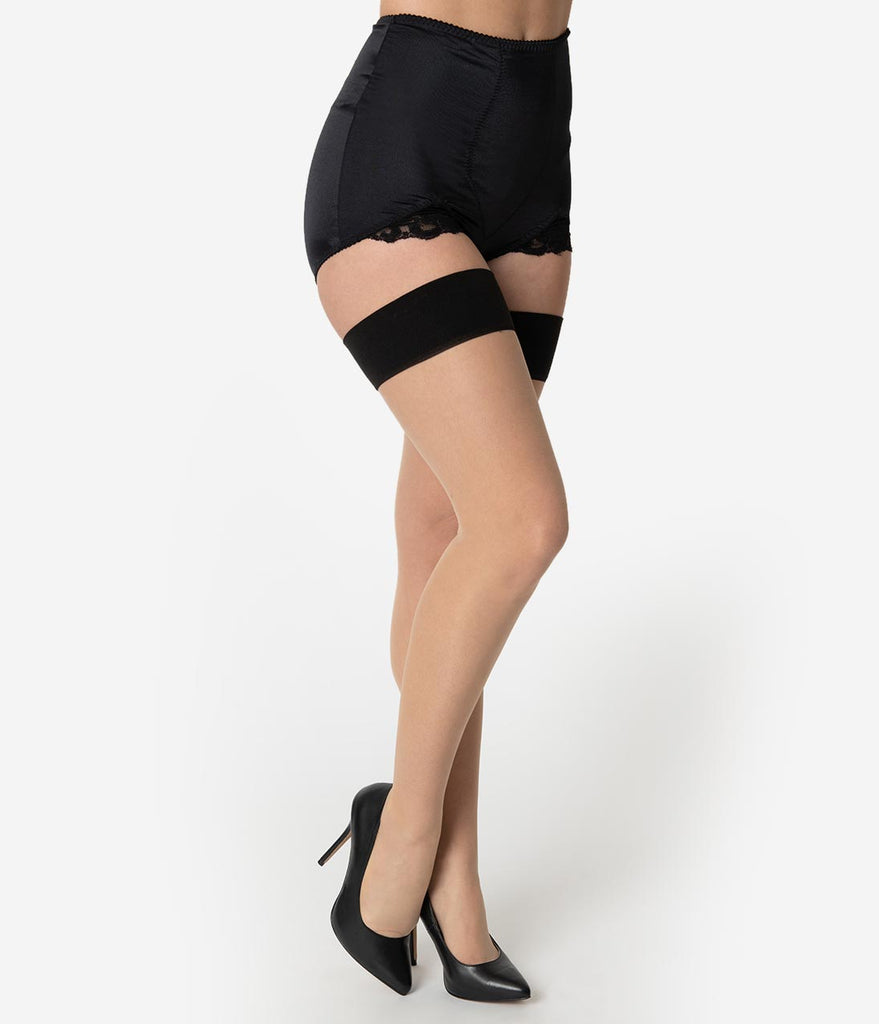 85c0b8432bd What Katie Did Black Cuban Heel Glamour Seamed Stockings – Unique ...