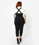 Voodoo Vixen Plus Size Black Fitted Capri Connie Overalls