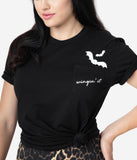 Unique Vintage Black Cotton Wingin It Unisex Tee