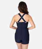 Voodoo Vixen 1950s Style Navy & White Nautical Eliza Playsuit
