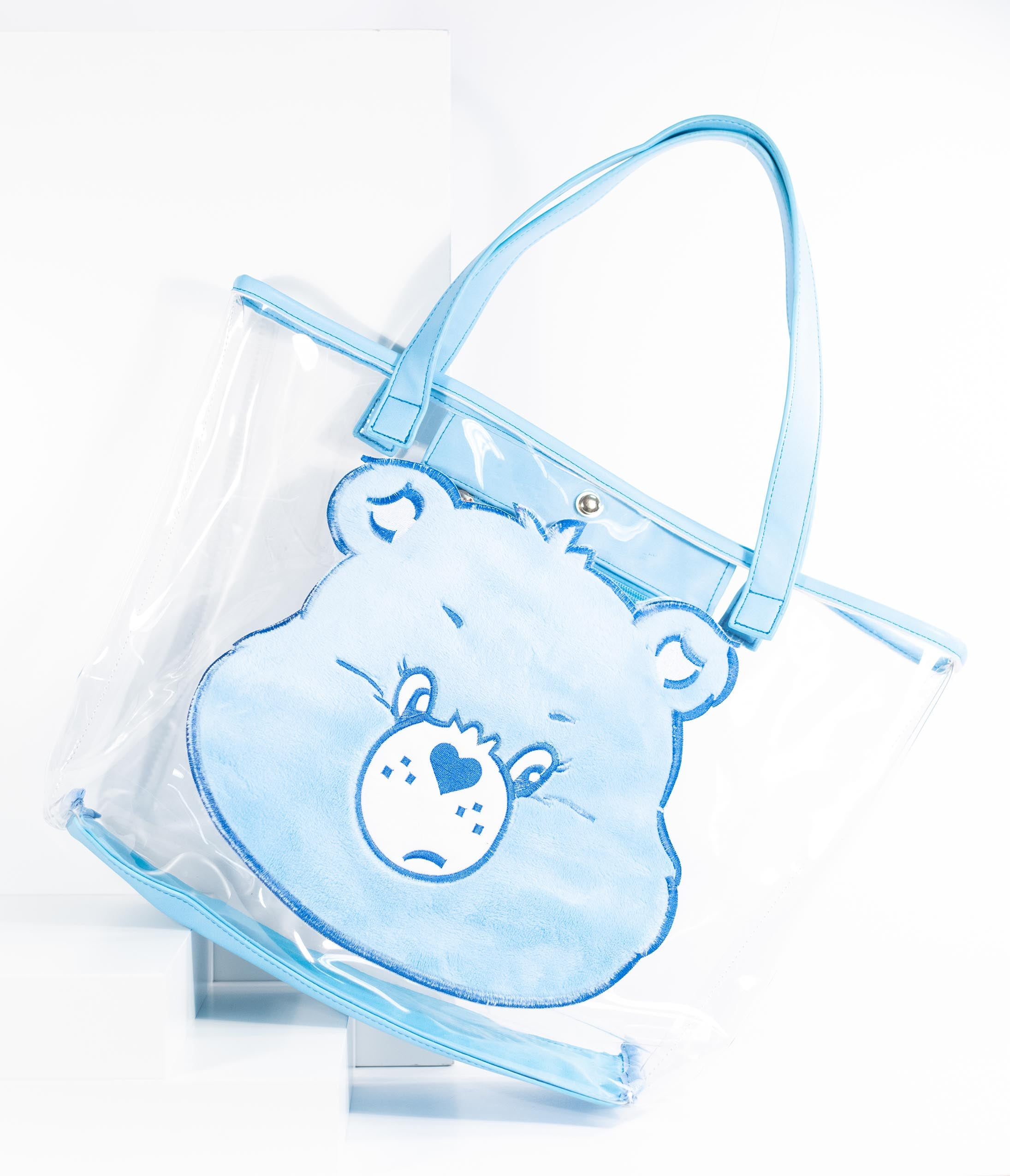 ff9da0c2663 Care Bears x Unique Vintage Light Blue Plush Grumpy Bear Vinyl Tote