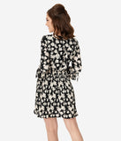 Smak Parlour Black & Ivory Floral Print Lead Like A Girl Fit & Flare Dress