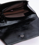Black Leatherette Halloween Party Animal Envelope Clutch