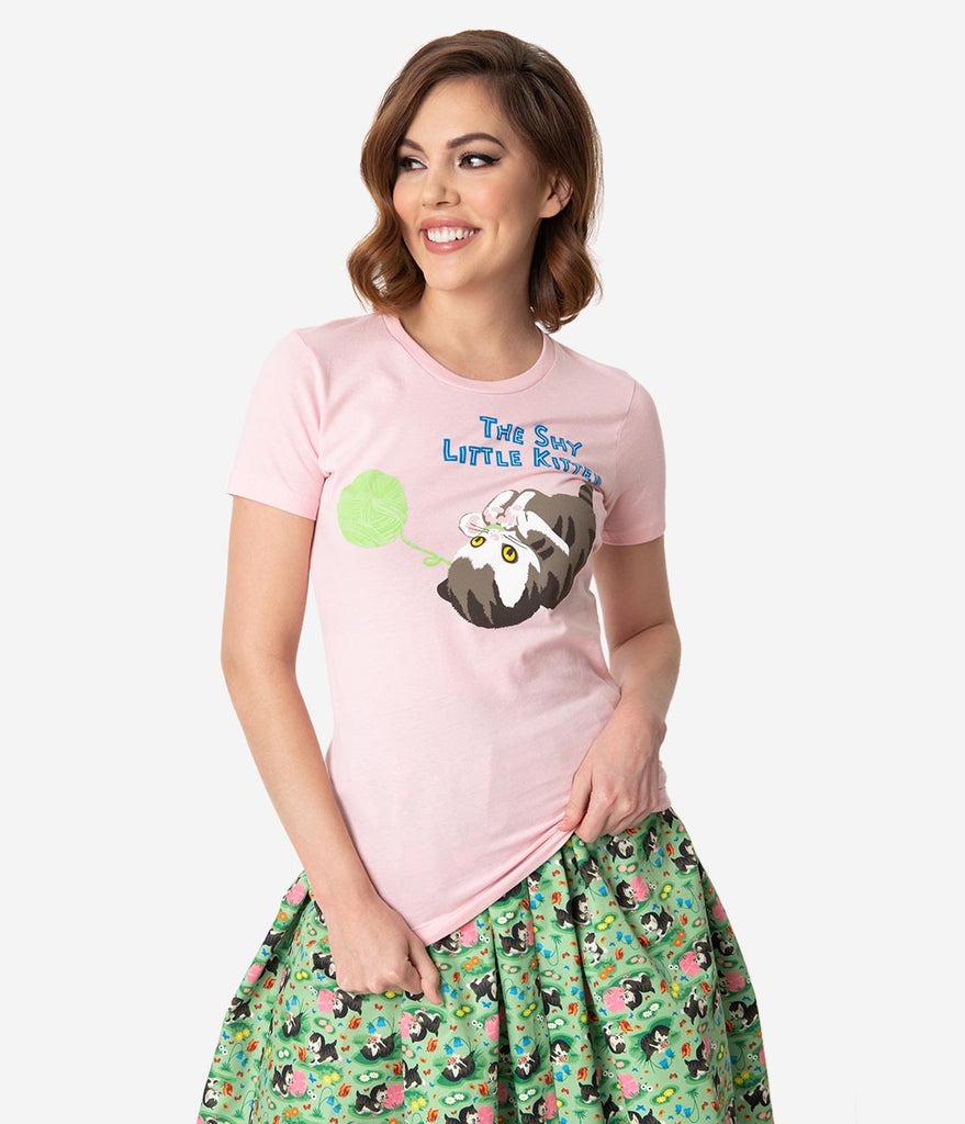 Little Golden Books x Unique Vintage The Shy Little Kitten Womens Tee