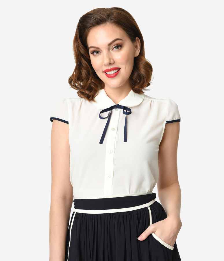 4700ccd65b93e Vintage Blouses - Cute Retro Blouses for Women – Unique Vintage