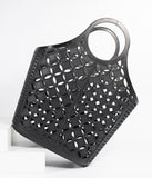 Retro Style Black Atomic Star Pattern Jelly Tote