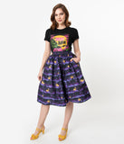 Universal Monsters x Unique Vintage The Wolf Man Print High Waist Circle Swing Skirt