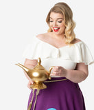 Golden Ceramic Disney Aladdin Genie Lamp Sculpted Teapot