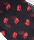 Coca-Cola Collection by Unique Vintage Pin-Up Black & Red Bottle Cap Print Chiffon Hair Scarf