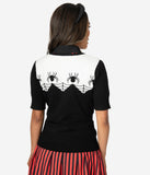 Hell Bunny Black & Ivory Itsy Bitsy Spider Knit Sweater