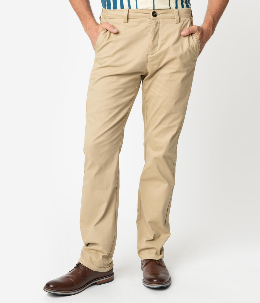 Collectif Beige Tan Chino Danny Mens Pants