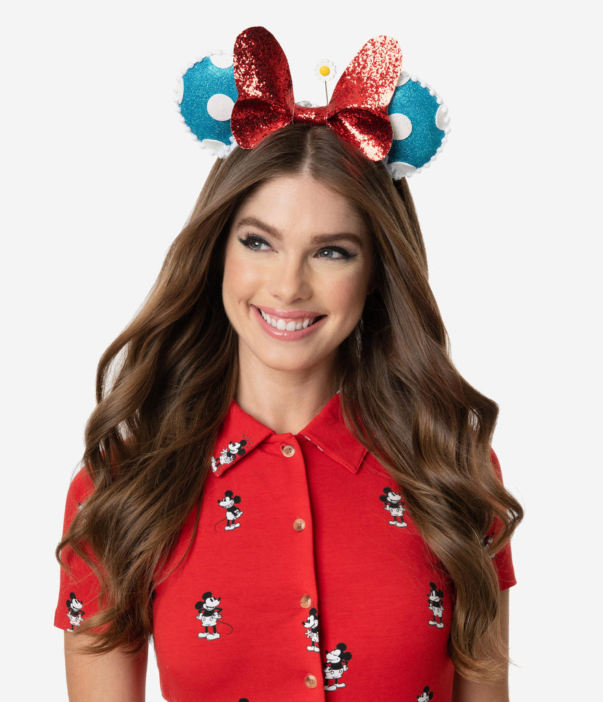 Happy Mouse Ears Glitter Headband
