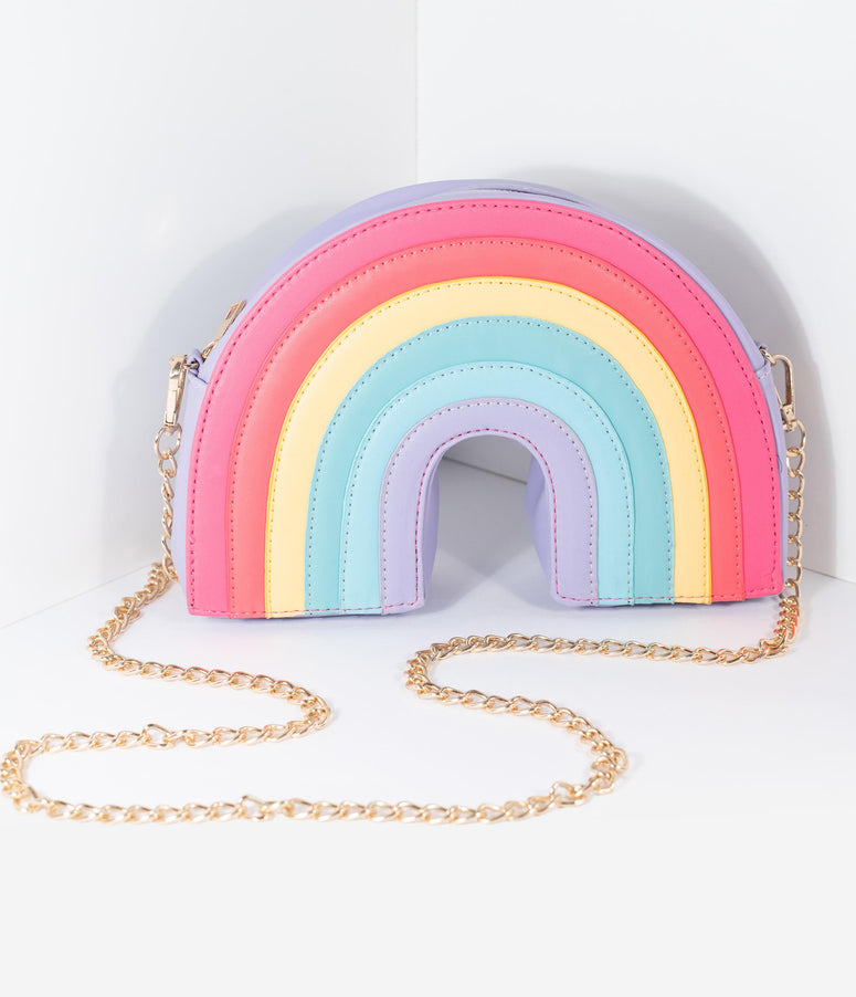 Voodoo Vixen Over The Rainbow Leatherette Crossbody Purse