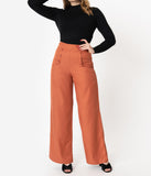 Unique Vintage 1940s Rust High Waist Ginger Pants