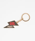 Gold Lightning Bolt Girl Power Keychain