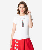 Coca-Cola Collection by Unique Vintage Red Lips & Cola Sips Unisex Tee