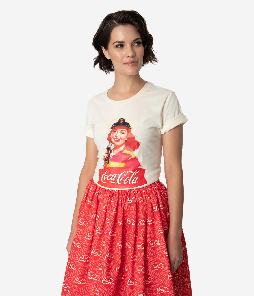 Coca-Cola Collection by Unique Vintage Vintage Sailor Gal Unisex Tee