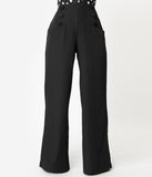 Unique Vintage Black Wide Leg Rogers High Waisted Pants