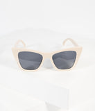 Vintage Style Cream Cat Eye Sunglasses