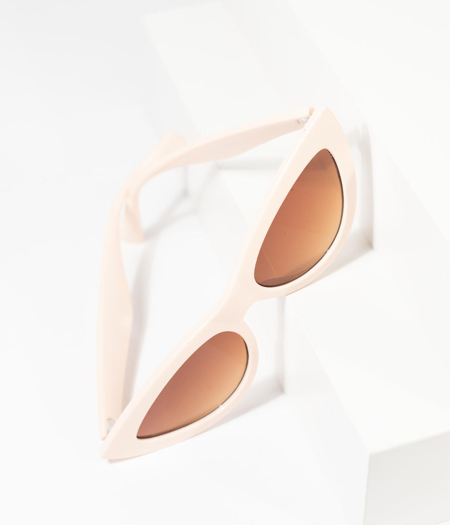 1950s Style Blush Pink Foxy Cat Eye Sunglasses