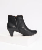 Chelsea Crew Black Leatherette Ivy Bootie