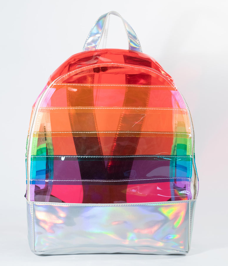 Rainbow Vinyl & Holographic Backpack