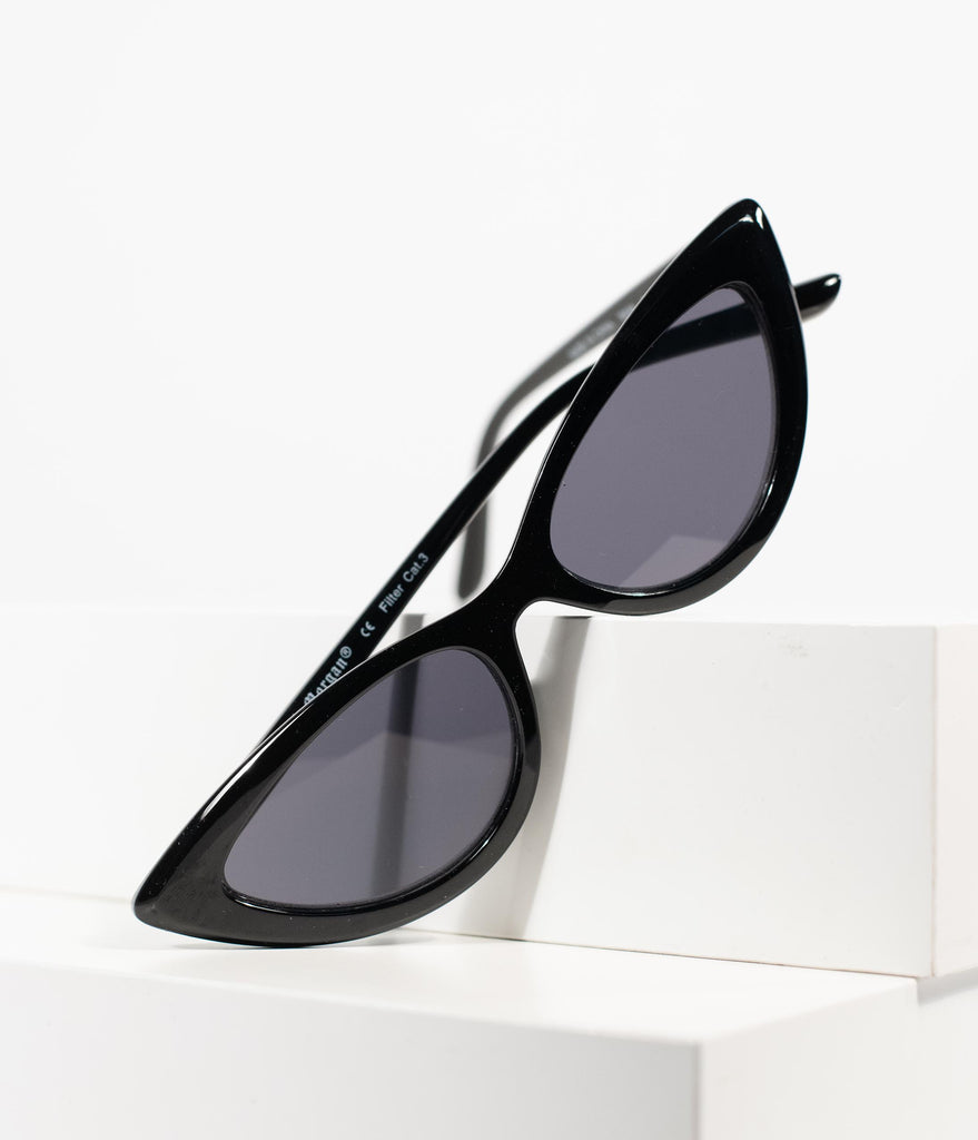 1950s Style Black 7 Year Itch Cat Eye Sunglasses