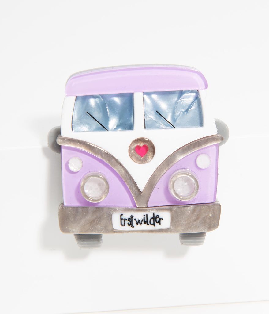 Erstwilder Vagabond Wheels Resin Brooch Pin