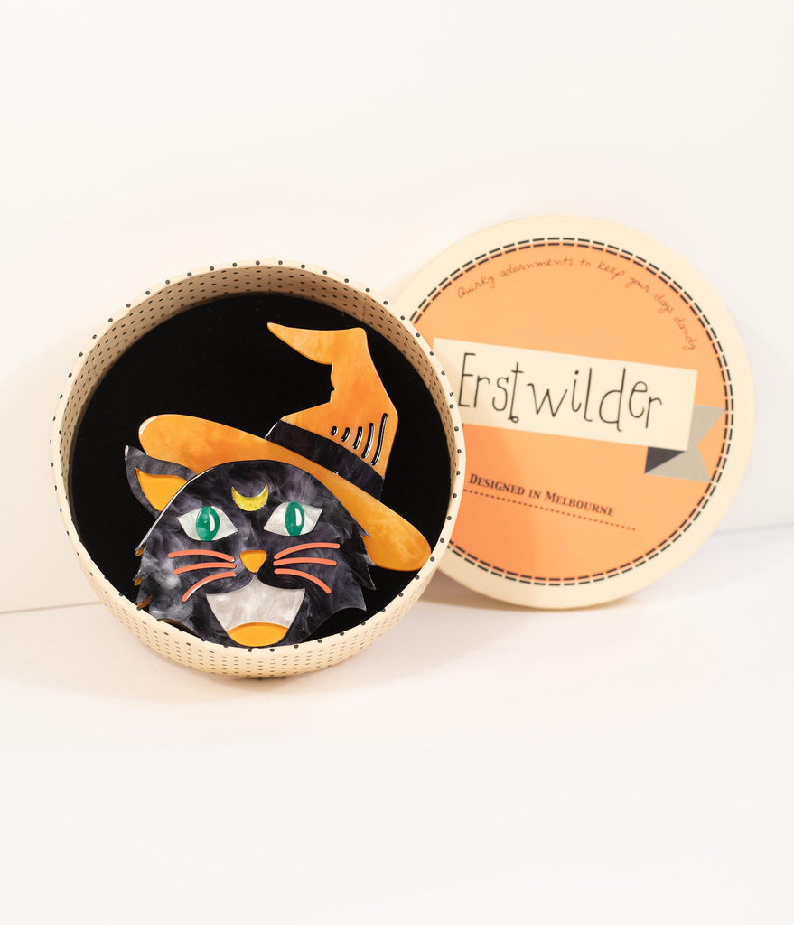 Erstwilder Hex Kitten Resin Brooch Pin