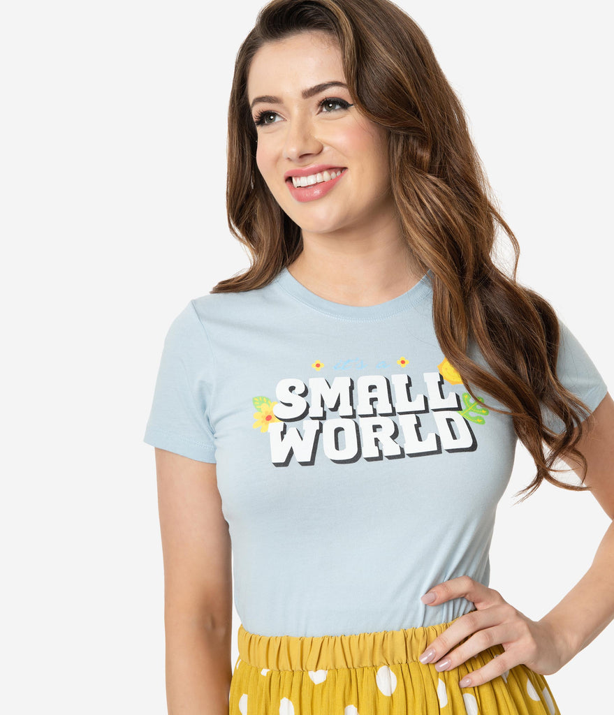 Whosits And Whatsits Light Blue Small World Womens Tee