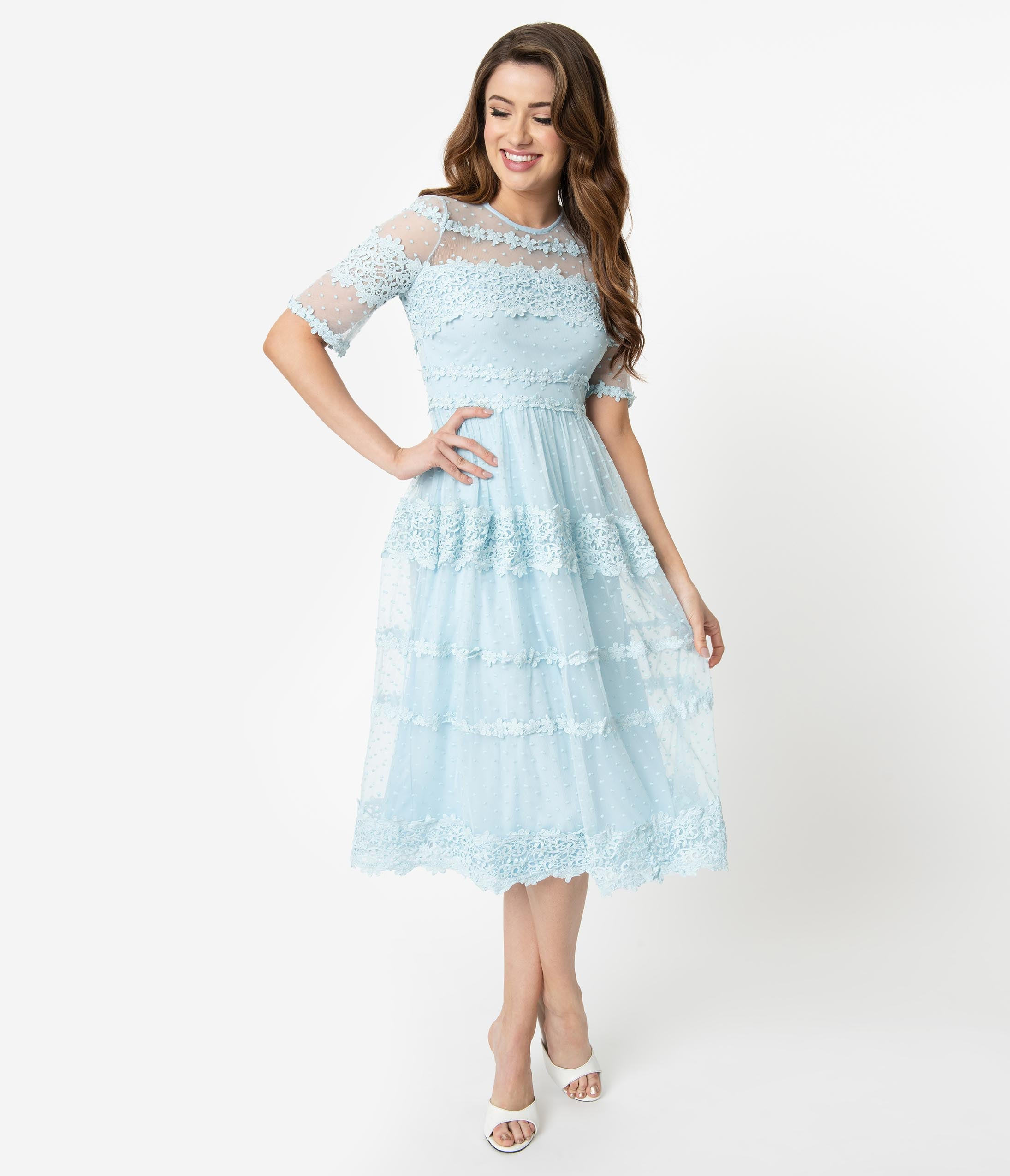 467229db16 Vintage Polka Dotted Dresses: Swing, Flair, A-Line, Pencil – Unique ...