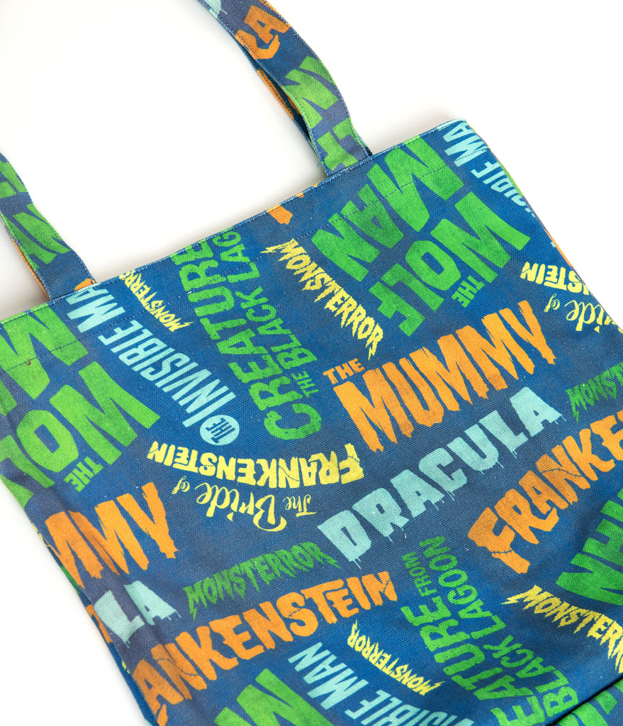 Universal Monsters x Unique Vintage Monster Movie Title Tote