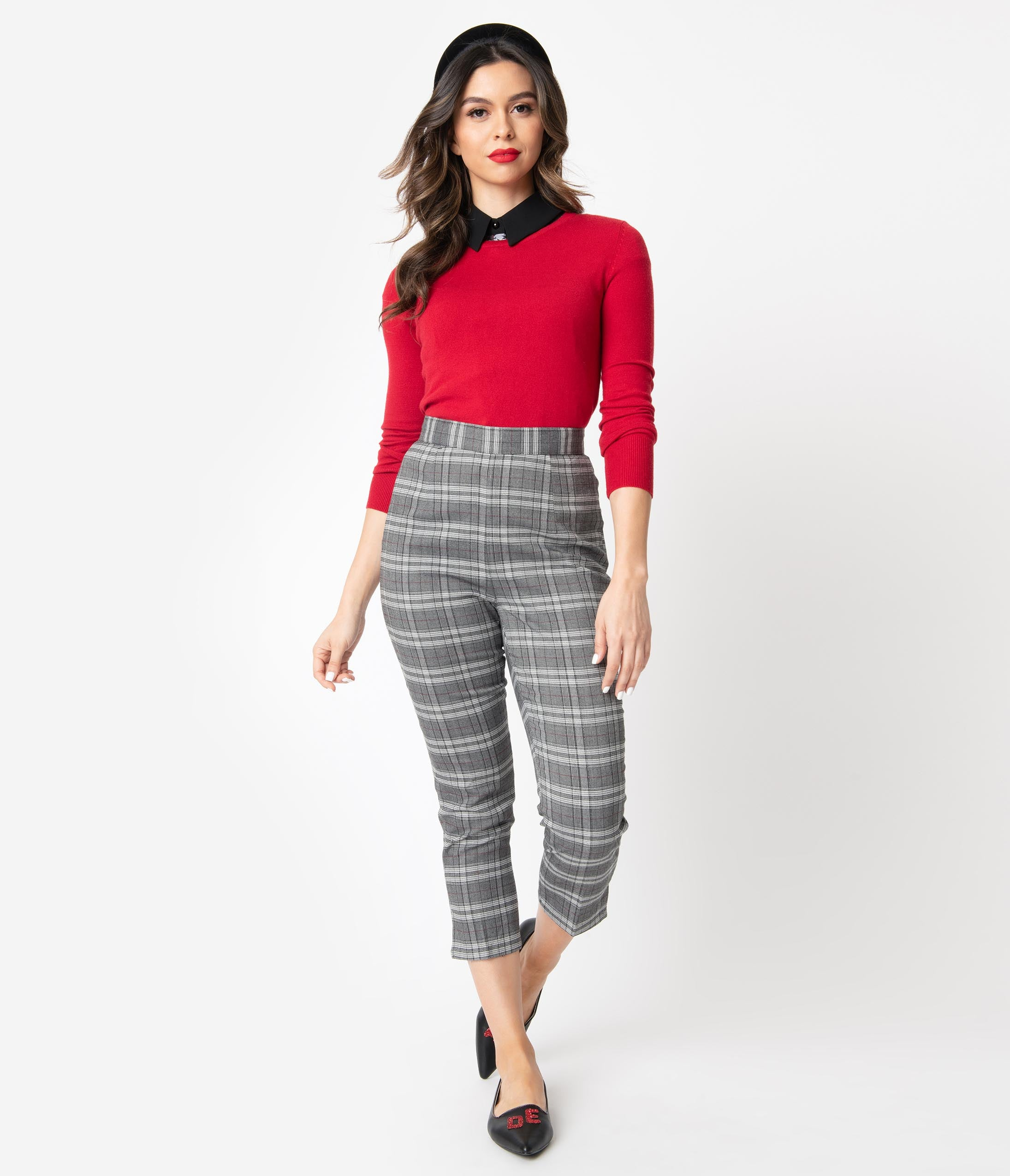 Plaid Pants Outfits Women
