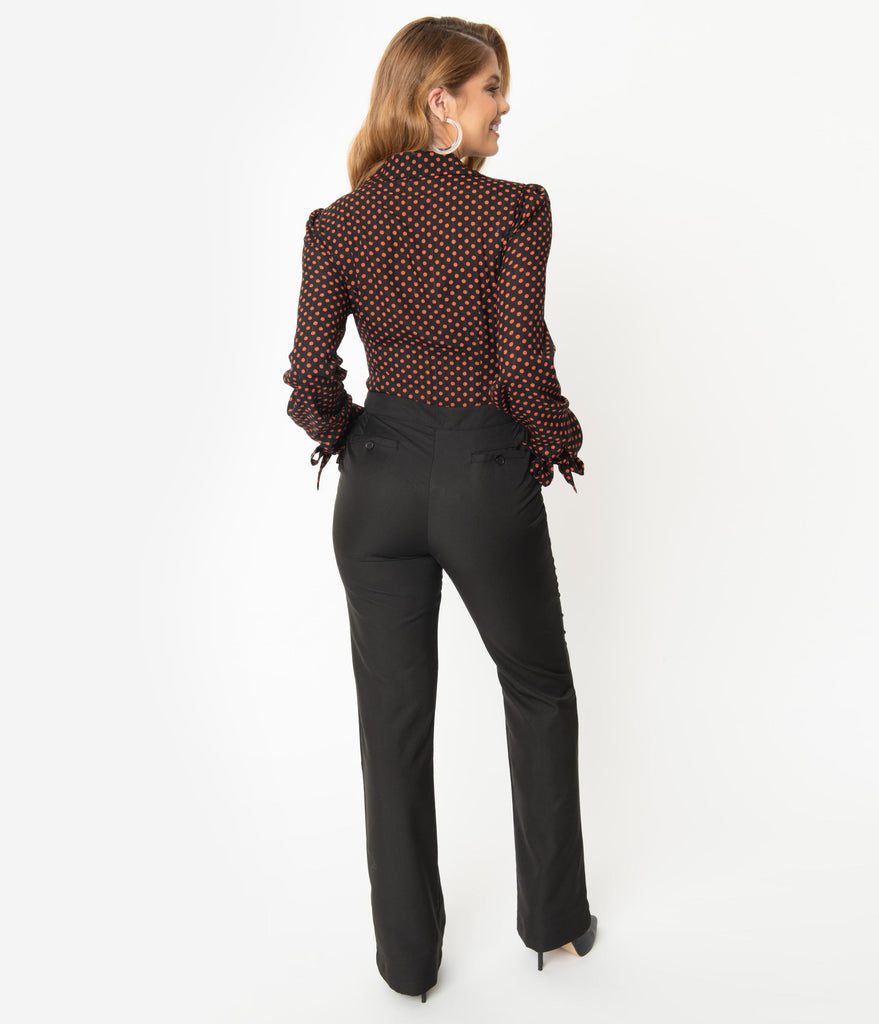 Unique Vintage Black High Waist Dawn Pants