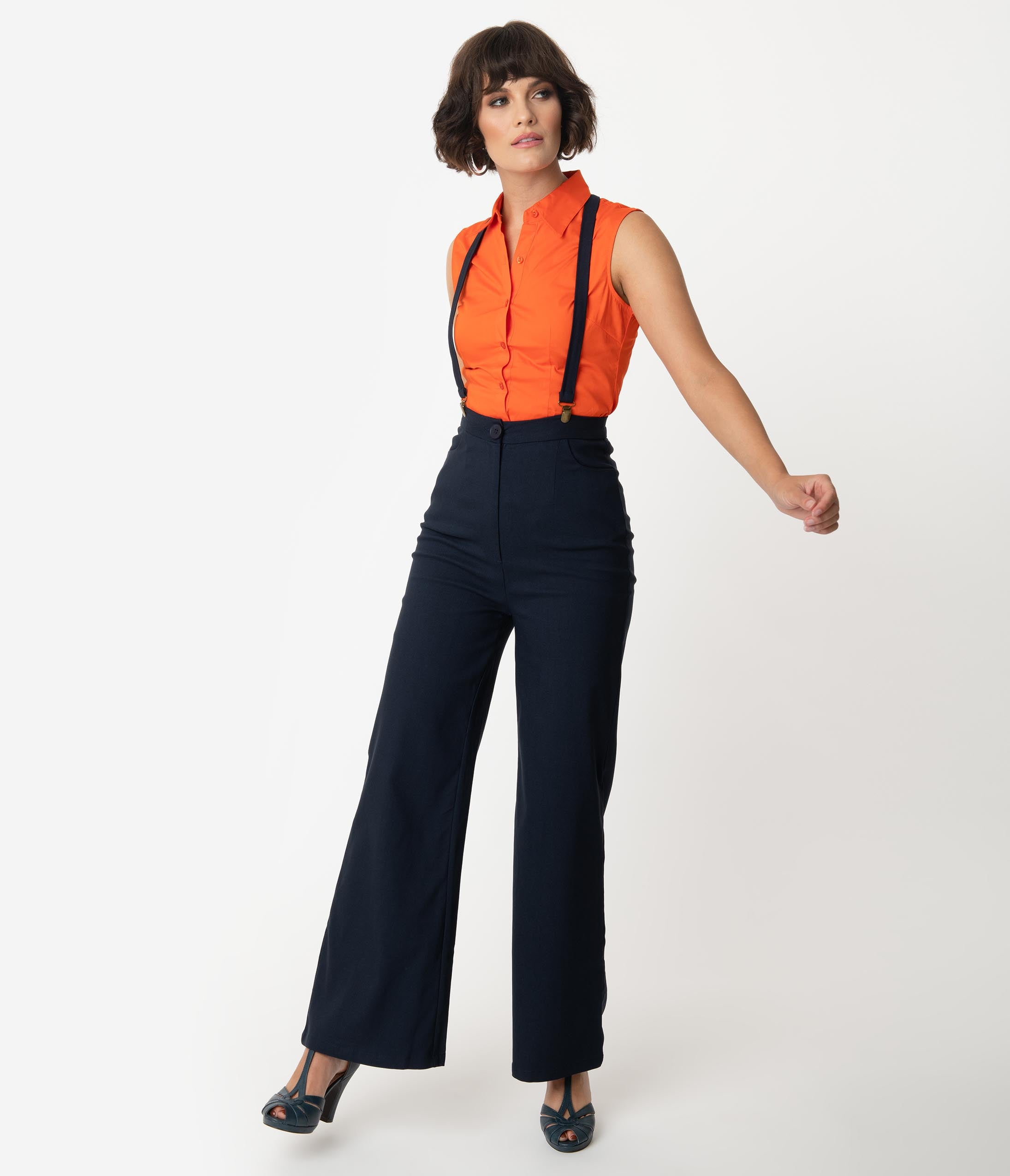 Blue and red striped trousers  Women/'s high waist pants  Vintage Summer stripe pantalon  90s straight leg highwaisted trousers  Size L