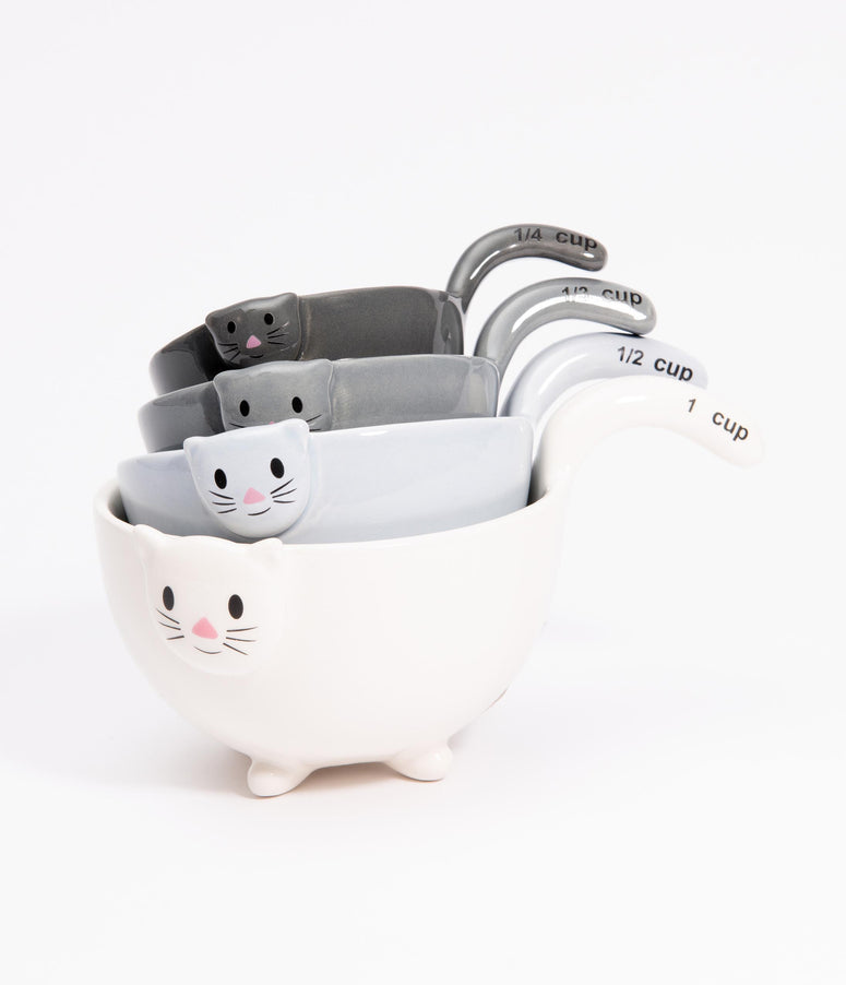 Ceramic Cats Measuring Cup Set